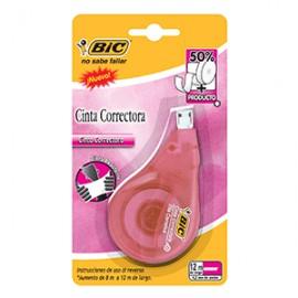 CINTA CORRECTORA BIC ROSA BLISTER C/1
