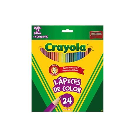 CAJA DE COLORES CRAYOLA LARGOS CON 24 PIEZAS - Envío Gratuito