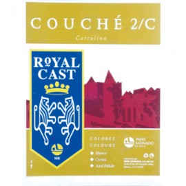 CARTULINA COUCHE IRLANDES BLANCA CON 5 ROYAL CAST